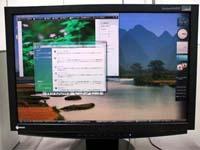 FlexScan S2411W Vistaのデスクトップ画面